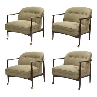Finn Andersen Barrel-Back Lounge Chairs For Sale