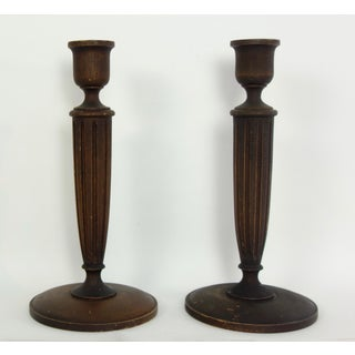 Hand Turned American Walnut Candlesticks - a Pair Preview