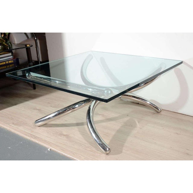 Italian Mid-Century Modern Coffee Table with Sculptural Base Design For Sale - Image 4 of 13