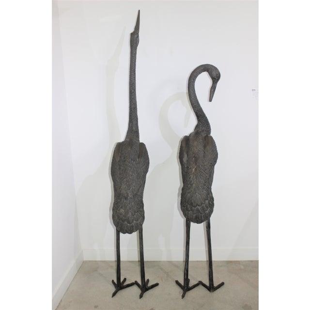Bronze Crane Sculptures 6 Ft - a Pair For Sale - Image 4 of 13