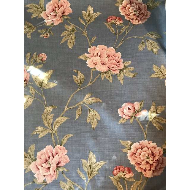 Colefax & Fowler Karina Blue Linen Fabric - 7 3/8 Yards For Sale - Image 10 of 10