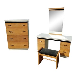 1930s Vintage Donald Deskey Art Deco Amodec Suite Bedroom Set For Sale