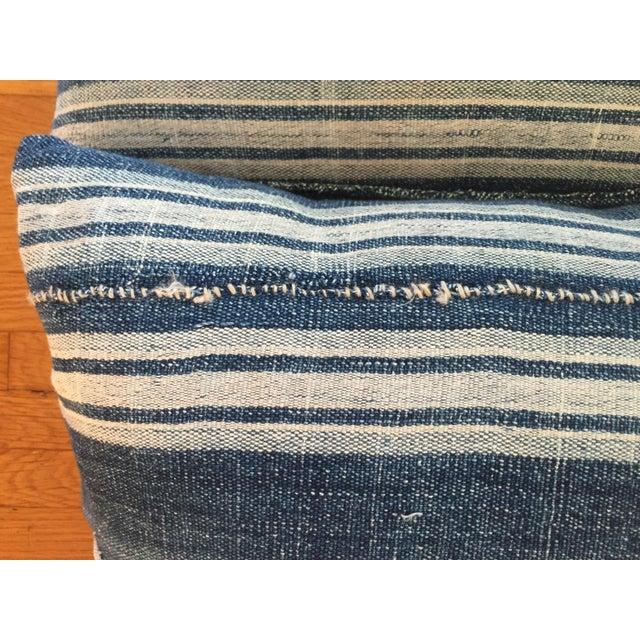 Vintage African Indigo Mud Cloth Pillows - A Pair - Image 6 of 8