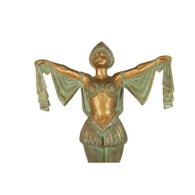 Art Deco Art Deco Flapper Erotic Dance Spelter Female Statue For Sale - Image 3 of 6