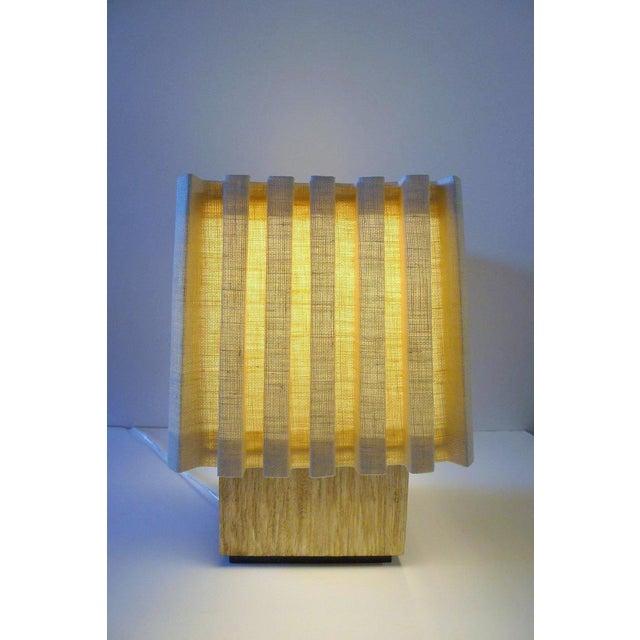 Paul Marra Modern Distressed Silvered Oak Lamp For Sale In Los Angeles - Image 6 of 9