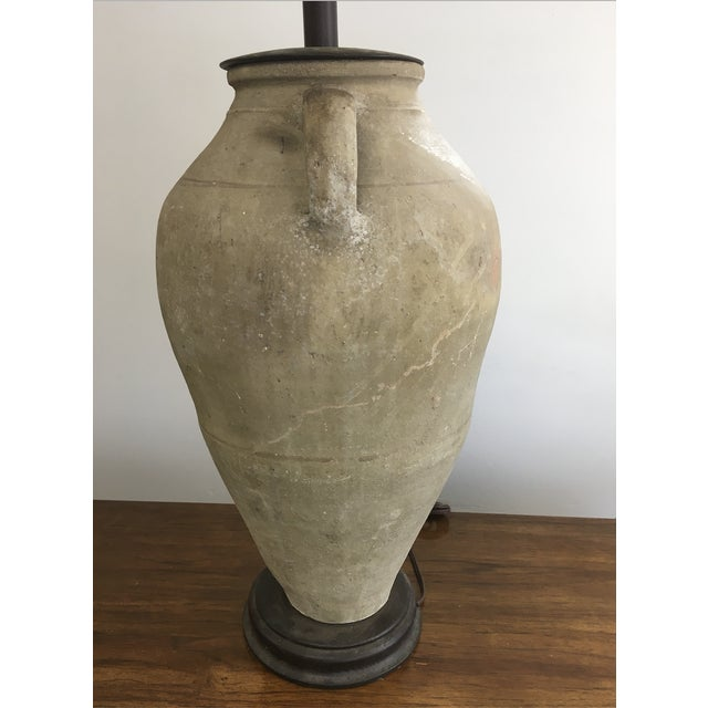 Mid 20th Century Vintage Mid-Century Oversized Clay Jug Table Lamp For Sale - Image 5 of 9