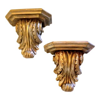 Acanthus Scrolled Corbels - a Pair For Sale