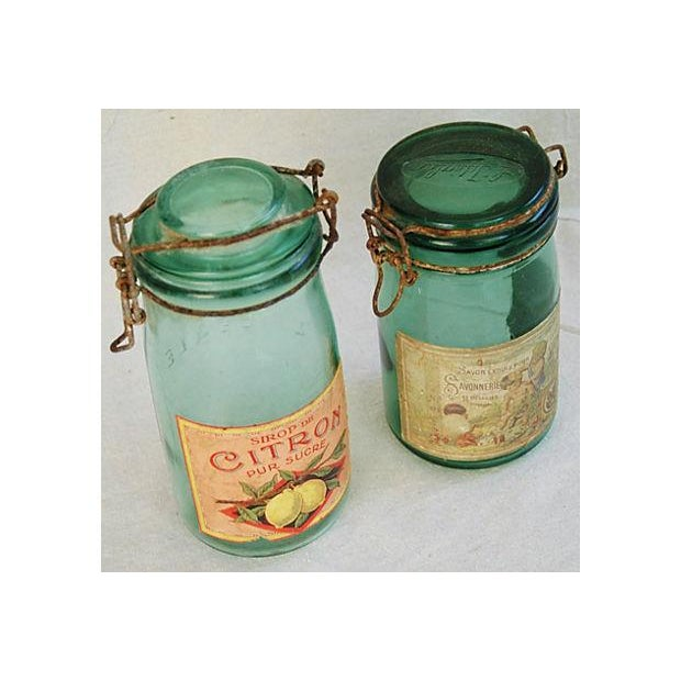 Early 1900s French Preserve Canning Jars - A Pair - Image 3 of 7