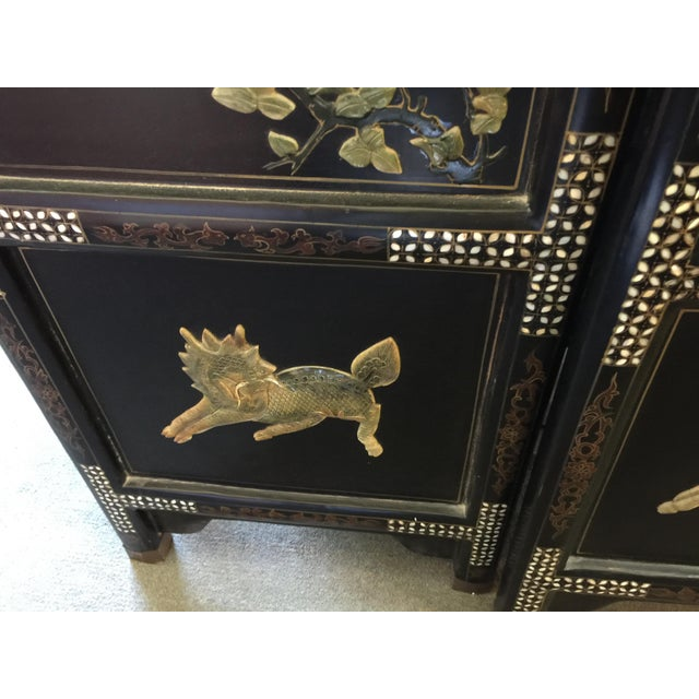 Chinese Hardstone Decorated Panels Set of Four For Sale In San Francisco - Image 6 of 13