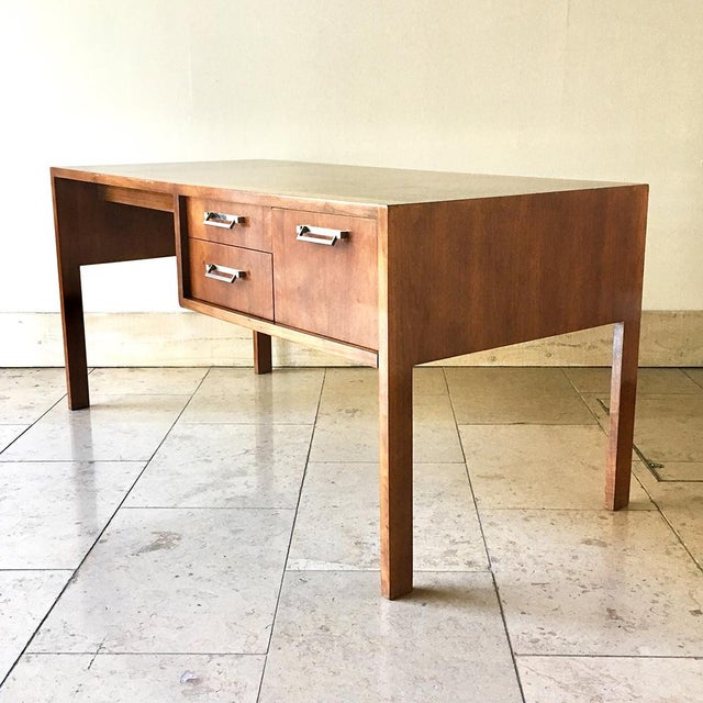 TALISMAN IS RETIRING, 50% OFF ALL STOCK (FINAL SALE PRICE SHOWN). Elegant Slim Proportioned Walnut Desk by Baker with...