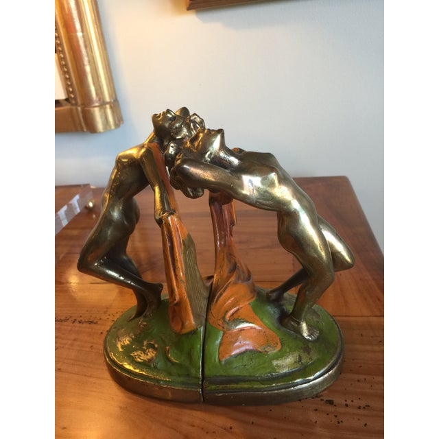Bronze Vintage 1920s Bronze Dancer Bookends - A Pair For Sale - Image 7 of 7