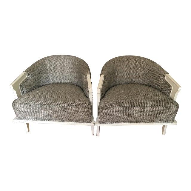1950's Herringbone Chairs - A Pair - Image 1 of 7