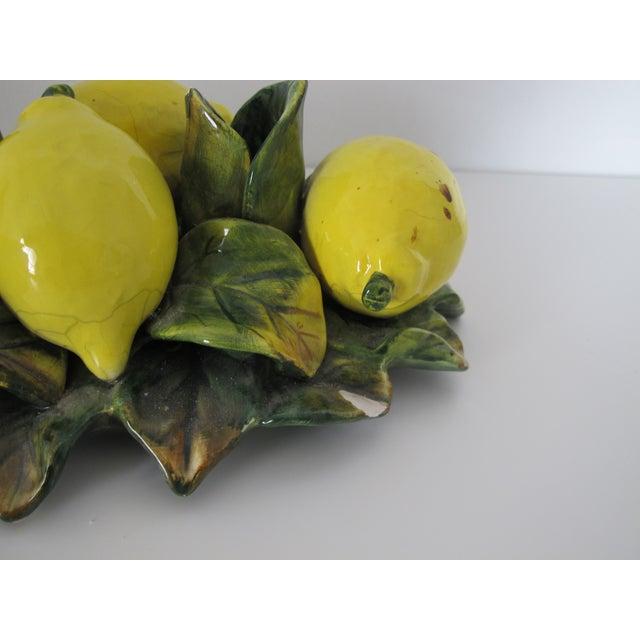 Majolica Lemon Candle Centerpiece - Image 6 of 7