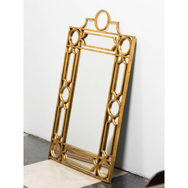 Contemporary Gilt Metal Mirror For Sale - Image 3 of 6