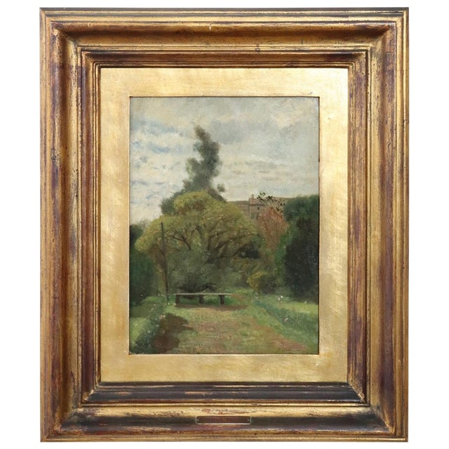 19th Century Important Italian Artist Oil Painting on Canvas Landscape For Sale