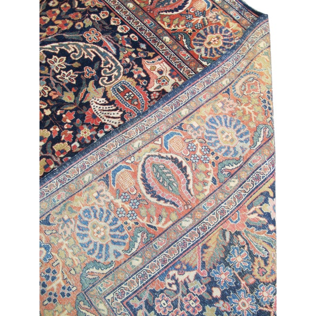 Islamic Fereghan Sarouk in Rich Autumnul Colors For Sale - Image 3 of 6