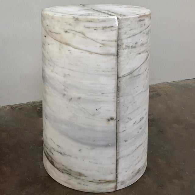 Stone Pair Antique Solid Marble Half-Columns ~ Pedestals For Sale - Image 7 of 13