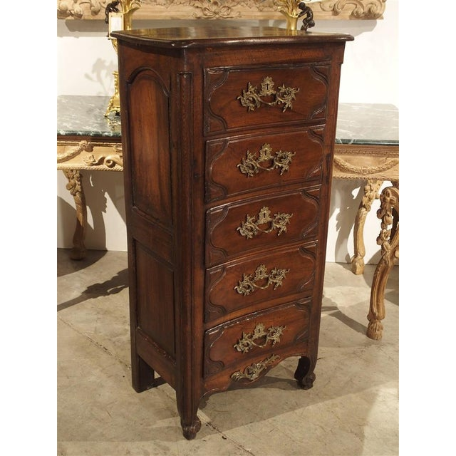 18th Century Walnut and Oak Chiffonier Chest of Drawers from France For Sale - Image 11 of 11