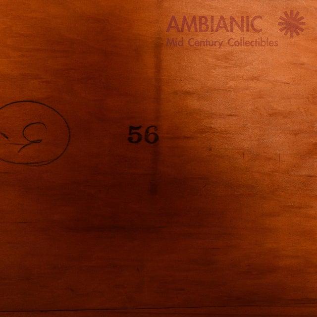 Art Deco Style Full Size Bed, Walnut Wood - Image 2 of 8