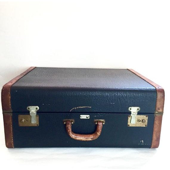 Vintage Suitcase with Burgundy Interior - Image 2 of 5