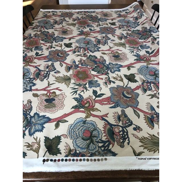 """Jacobean Jacobean Northcroft """"Jaipur"""" Floral Fabric - 1 3/4 Yards For Sale - Image 3 of 6"""