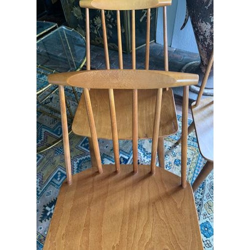 Mid 20th Century Folke Palsson for Fdb Mobler Mid Century Model J77 Chairs Circa 1970's For Sale - Image 5 of 11