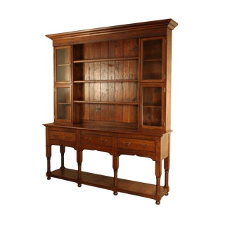 Hand Crafted Solid Cherry Large Welsh Dresser Cupboard For Sale