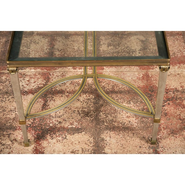 Hollywood Regency Mix Metal Bronze Coffee Table For Sale - Image 9 of 9