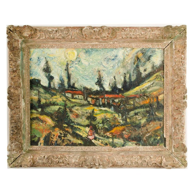 """Mid 20th Century """"Sunday Stroll Home"""" Landscape Oil Painting, Framed For Sale - Image 13 of 13"""