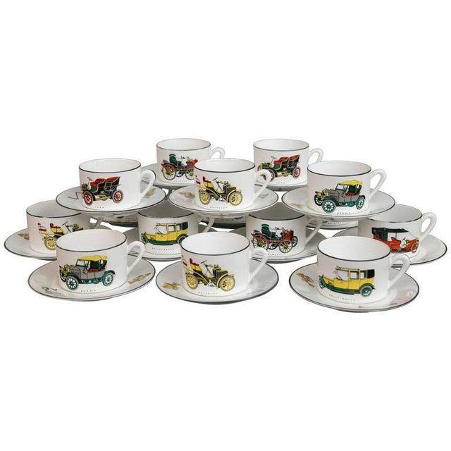 Limoges Antique Car Motif Coffee Set - 30 Pieces - Image 1 of 9