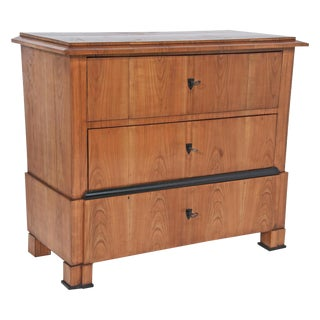 Circa 1830 Cherry & Ebony Biedermeier Chest