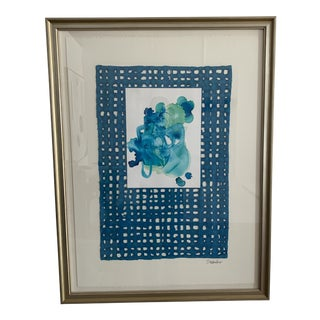S Wheeler Framed Originals in Blues For Sale