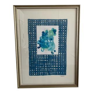 S Wheeler Framed Originals inBlues For Sale
