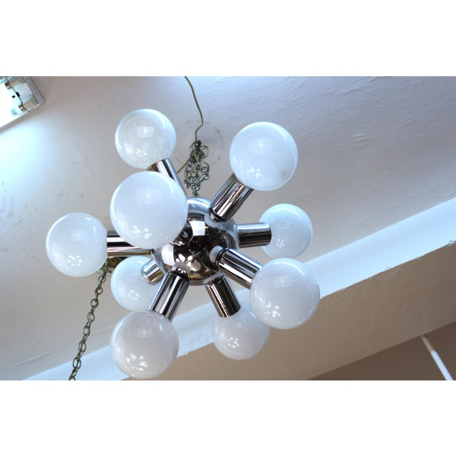 Mid 20th Century Atomic Age Molecular Chandelier For Sale - Image 5 of 6