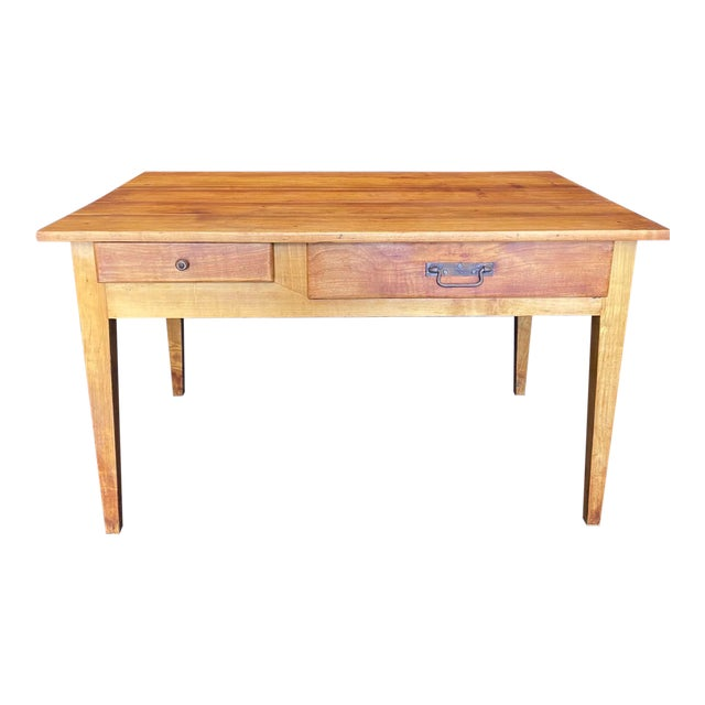 French 19th Century Natural Pine Desk For Sale