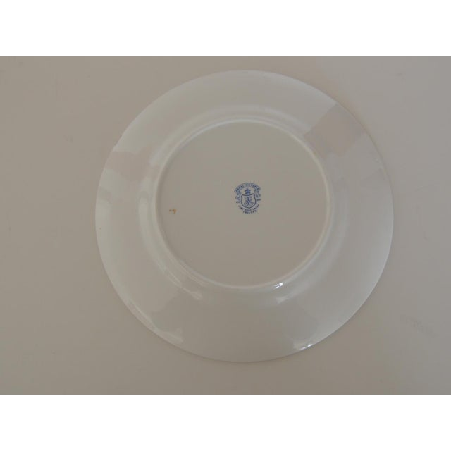 Royal Victoria English White and Green Bone China Dessert Plate For Sale - Image 4 of 6