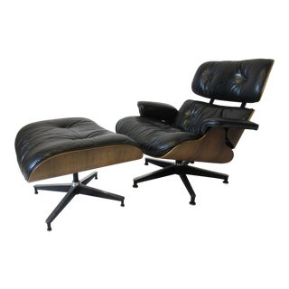 Eames for Herman Miller Rosewood 670 Lounge Chair & Ottoman For Sale