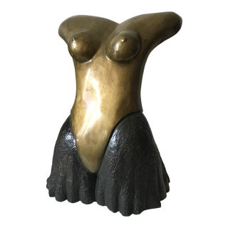 Bronze Female Torso by Charles B. Looter For Sale