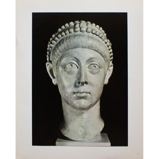 "Rare ""Marble Head of the Youthful East Roman Emperor Arcadius (395-408), 1940s Original Swiss Photogravure For Sale"