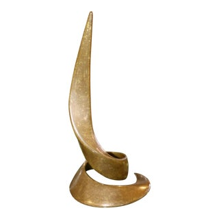 Beautiful Swirling Curl Bronze by Bill Keating Dated 1983