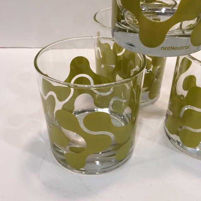 Op Art Avocado Green Lo-Ball Glasses - Set of 4 - Image 11 of 11