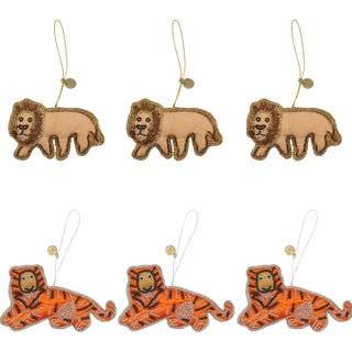 Doing Goods Holiday Ornaments Jolly Jungle Set - Set of 6 For Sale
