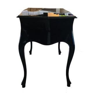 1940s Art Deco Black Lacquer Console Table Preview