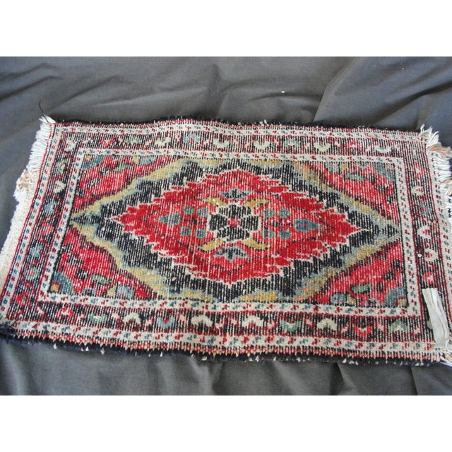 Vintage Wool Hand Tied Prayer Rug - 1′3″ × 2′2″ - Image 5 of 5