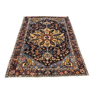 Navy Blue Persian Rug - 5′2″ × 7′10″