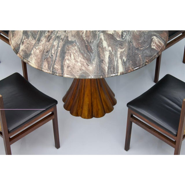 Fantastic Tulip Marble Dining Table Cast Metal Italy 1960s For Sale - Image 11 of 13