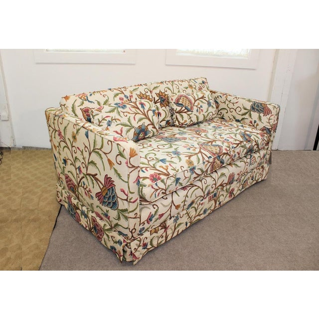 Mid-Century Modern Floral Sofa Settee - Image 3 of 10