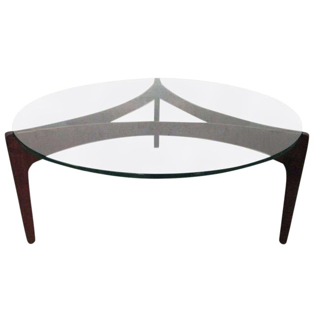 Sven Ellekaer Danish Teak Coffee Table For Sale