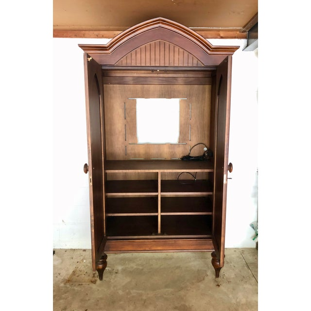 Jim Peed Jim Peed for Romweber Rustic Hardwood Armoire For Sale - Image 4 of 13