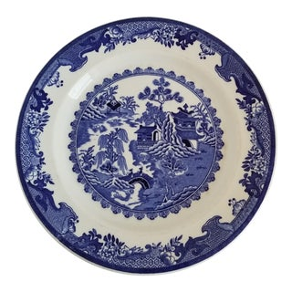 Vintage Shenango Blue Willow Plate For Sale